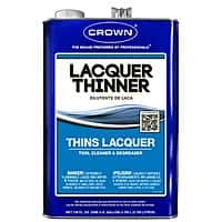 Crown Laquer Thinner  at Lowes for $  2.88