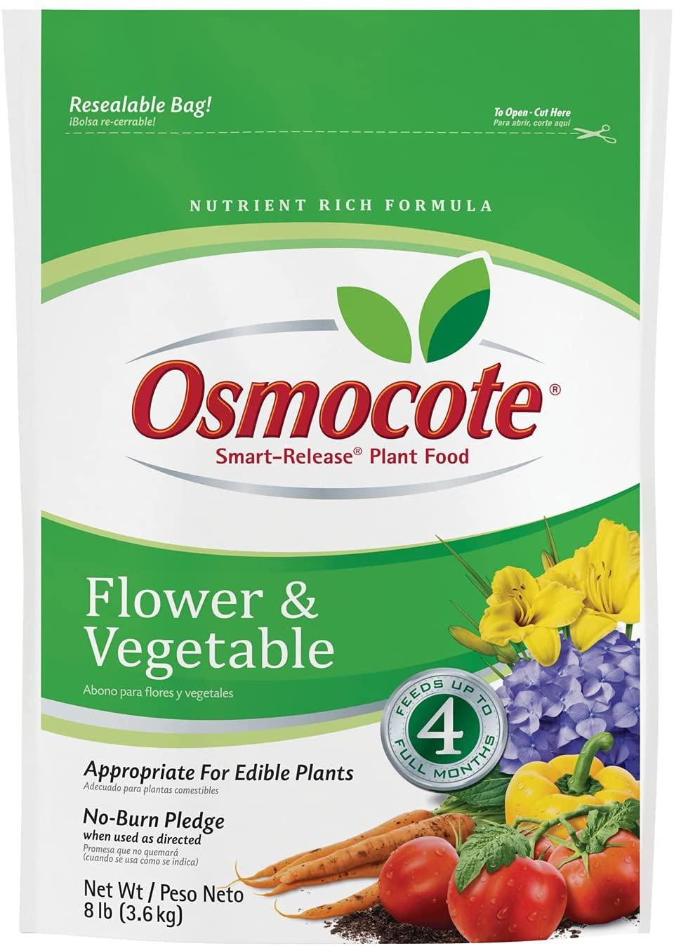 8 Lb bag of Osmocote Smart-Release Plant Food Flower & Vegetable $13.7
