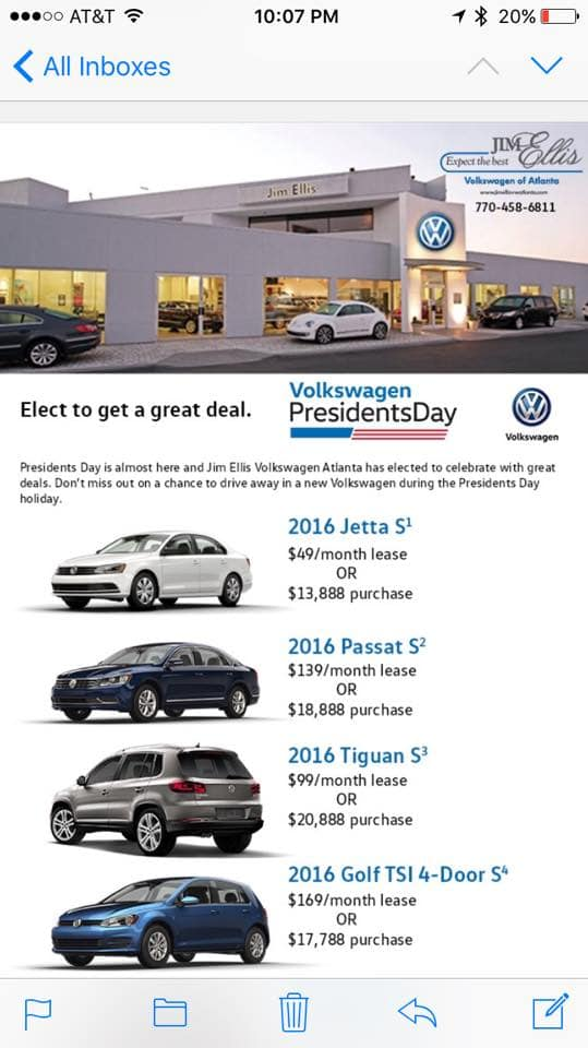 49 A Month VW Jetta Lease With 599 Down And Other Deals Atlanta