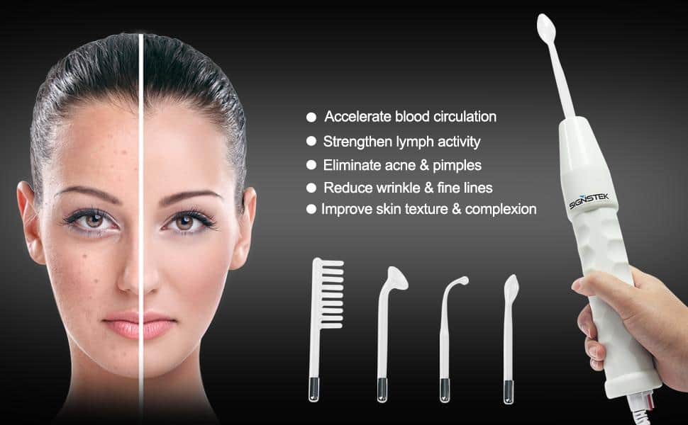 Signstek Portable High Frequency Face Wand Facial Machine $24.99