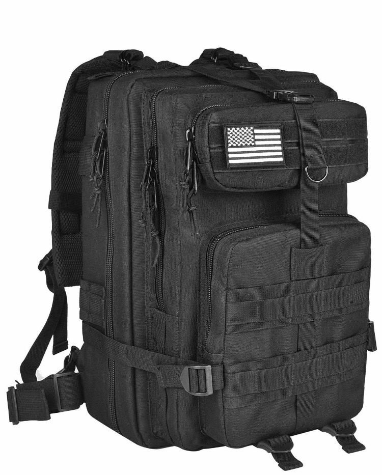 40L Military Tactical Molle Backpacks with Tactical Flag Patch from $16.99