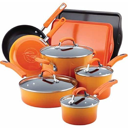 Rachael Ray Pots & Pans 12-Piece Cookware Set for as low as $50 @ Walmart (Clearance & YMMV)