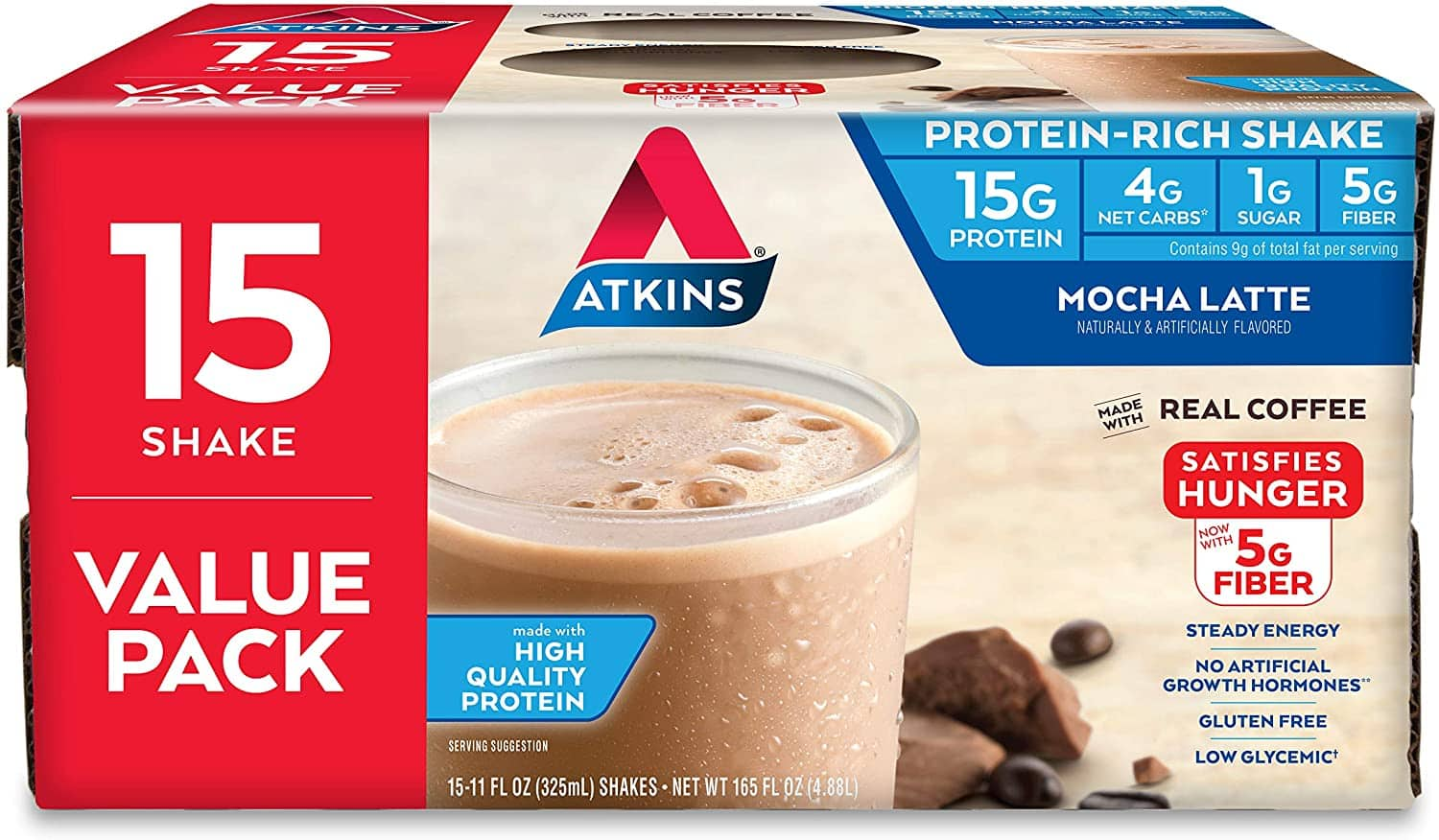 Atkins Keto Shakes, Bars and Meal Replacements - Prime Day Deal with FS for Prime Members $14.31
