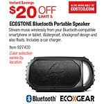 ECOXGEAR EcoStone Waterproof Bluetooth Speaker - $69.99 @ Costco B&M (Reg price $100-$150 online)(6/11 - 7/5)