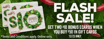 Chili's - Get $20 Free with a $50 Gift Card Purchase