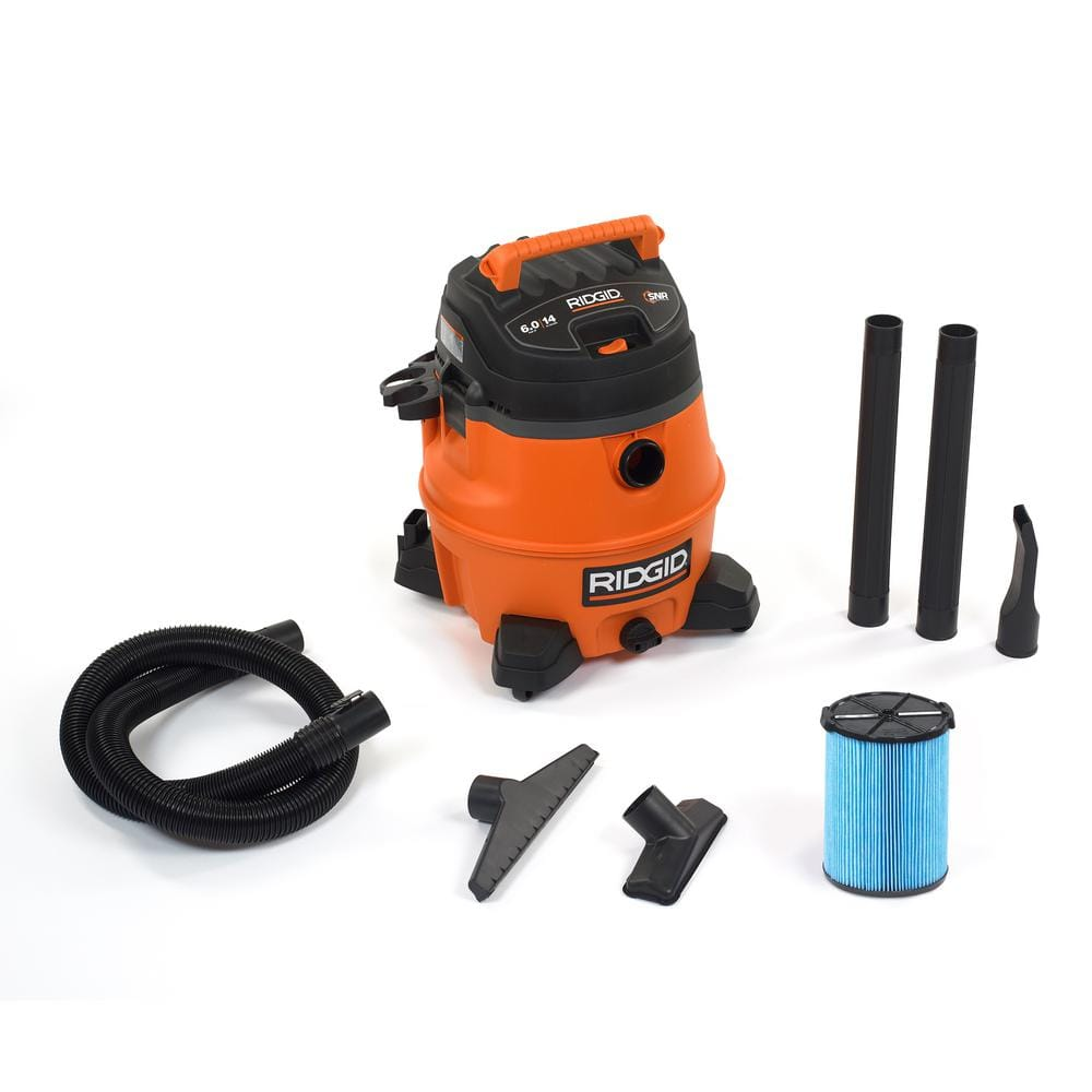 Rigid 14 gallon 6 hp Wet and Dry Shop Vac at Home Depot for $89.97