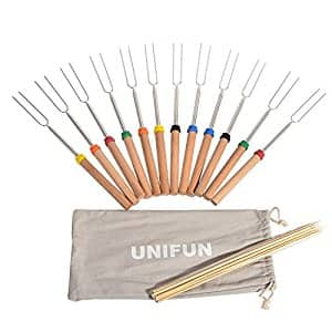 Marshmallow Roasting Sticks, SET of 12 FDA APPROVED Price after coupon: $15.99