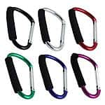 6 5 inch Jumbo Aluminum Carabiner Hiking Cushion Grip not for Climbing 6 Colors for $4.50 + free shipping