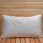 75% Off Refael Collection™ Bamboo Memory Foam Hypoallergenic Pillow with Carry Bag $16.99 + and up with free shipping