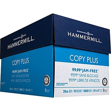 5000 Sheets of Copy Paper $25 Shipped