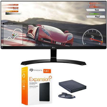 "LG 34UM60P 34"" UltraWide IPS FreeSync LED Monitor + Seagate 1.5TB Hard Drive $223.99 AC Free Ship"