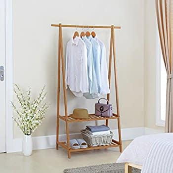 Finnhomy Bamboo Clothes Rack and Shoe Rack - $44 + FS w/ Prime $44.48