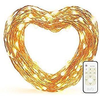 33ft Eufy Starlit Copper Wire LED String Lights w/ Remote Control $10 (FS w/ Prime) $9.99