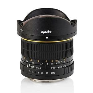 $134.95 NEW Opteka 6.5mm F3.5 Fisheye lens Canon mount via Authorized seller, other various mount available for 150