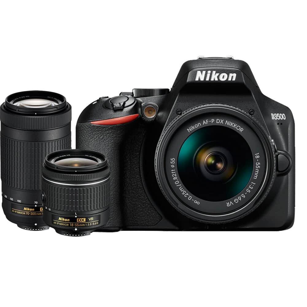NEW Nikon D3500 with 18-55 kit $337 ($387 with 70-300) ac @Rakuten via Authorized dealers, NO tax most states