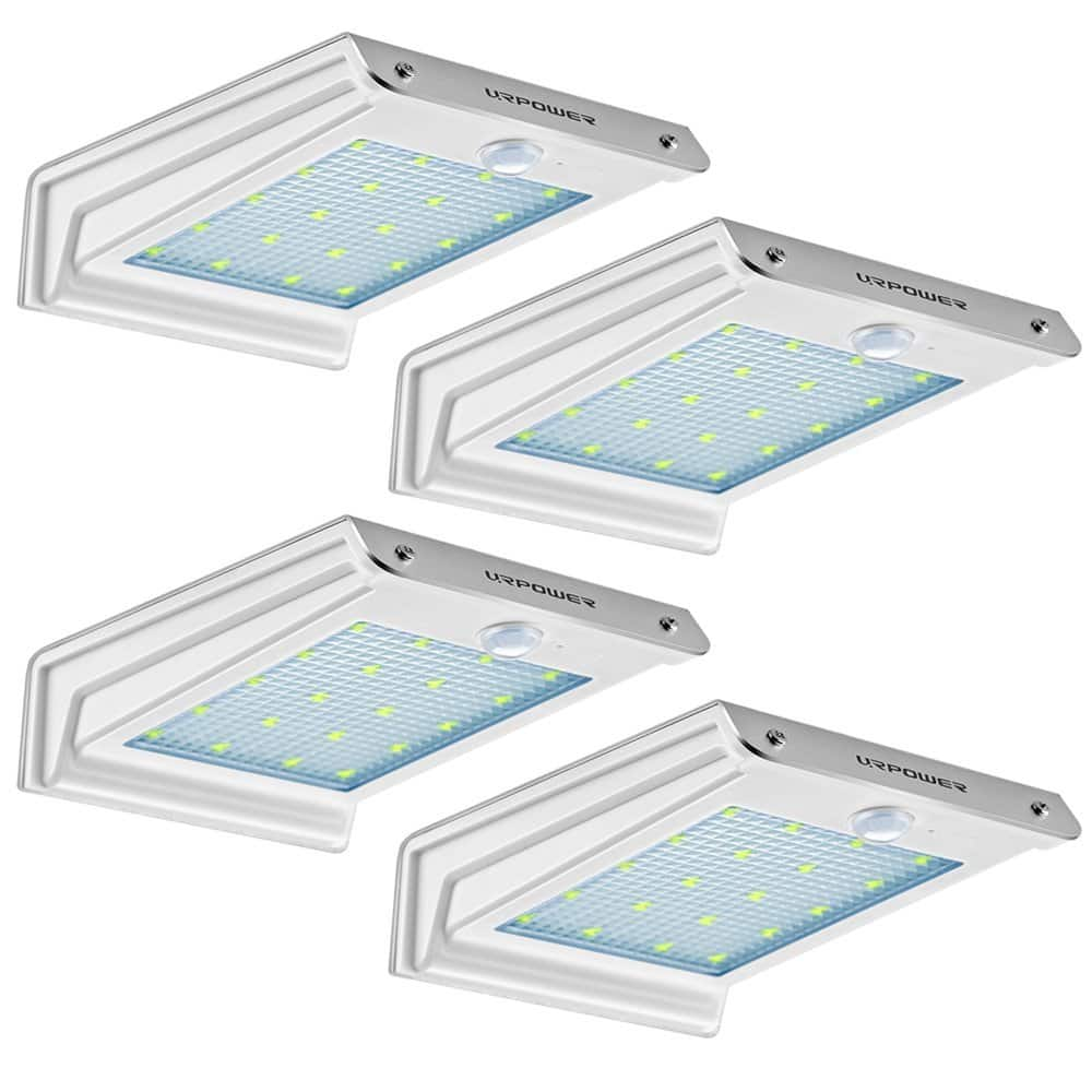 20 LED Outdoor Solar Motion Sensor Lights 4-Pack Amazon Prime
