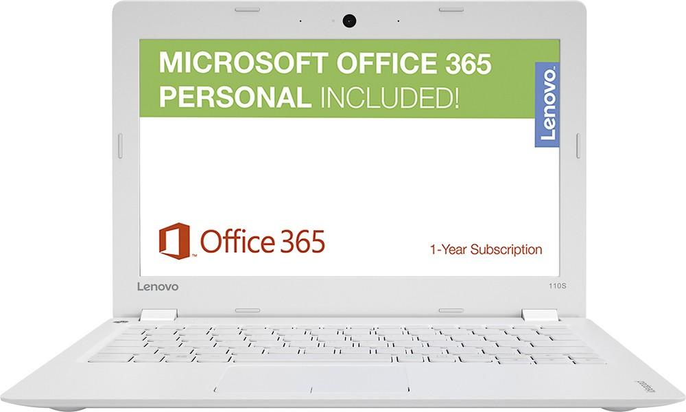 "Lenovo - Ideapad 110s 11.6"" Laptop - Intel Celeron - 2GB Memory - 32GB eMMC Flash Memory - White $129.99 + Free 2 day Shipping"