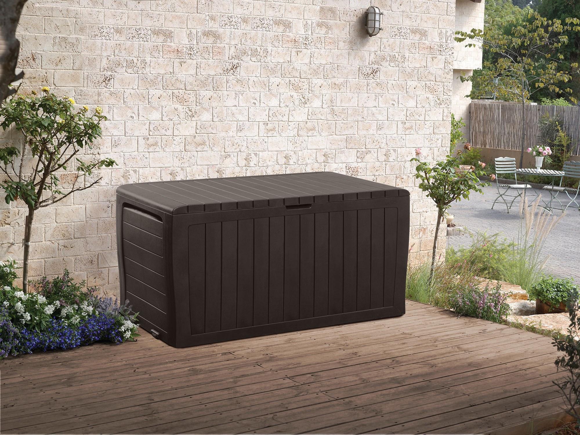 Keter Marvel Plus 71 Gallon Outdoor Storage Deck Box Espresso Brown $48 @Amazon