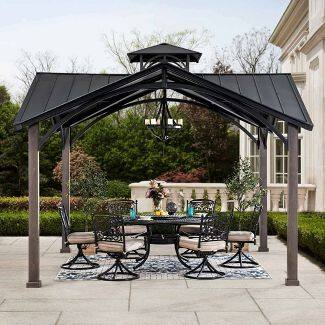 Steel Top 2-Tier Outdoor Gazebo - Sunjoy - 12' X 12' $980.99
