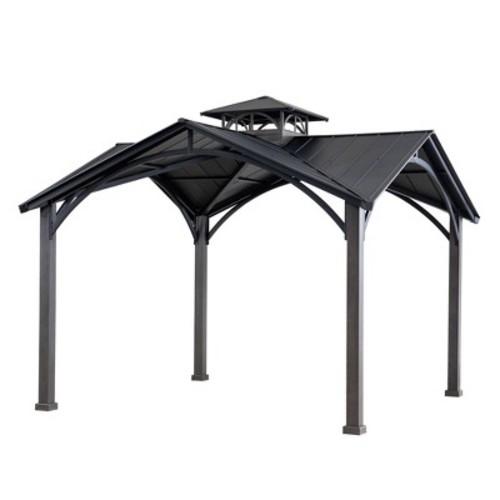 Steel Top 2-Tier Outdoor Gazebo - Sunjoy - 12' X 12' $980.99