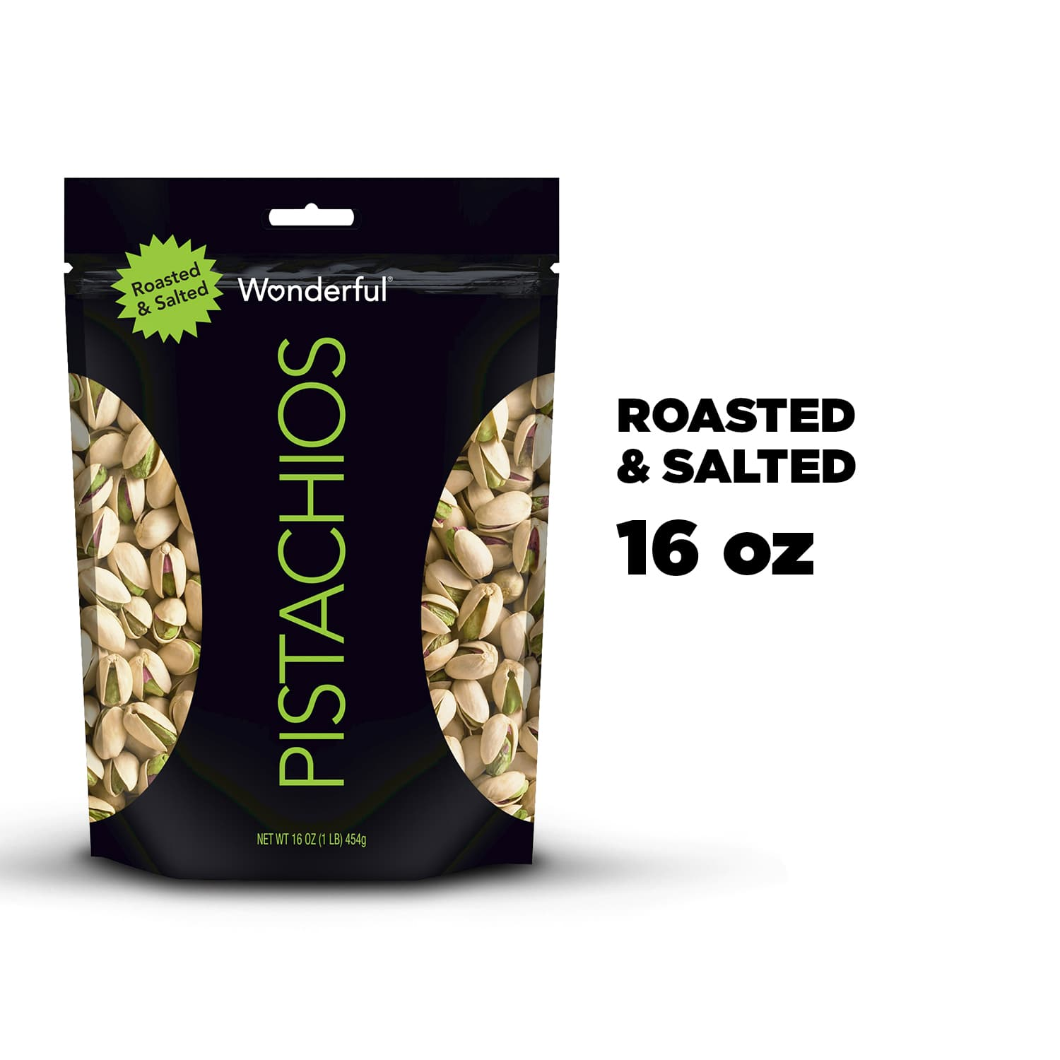 Wonderful Roasted & Salted Pistachios 16 Oz $5.25