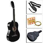 Guitar Acoustic Kit Beginner Bundle Guitar, Case, Strap, Tuner, Extra Strings $26.99 with Free Shipping