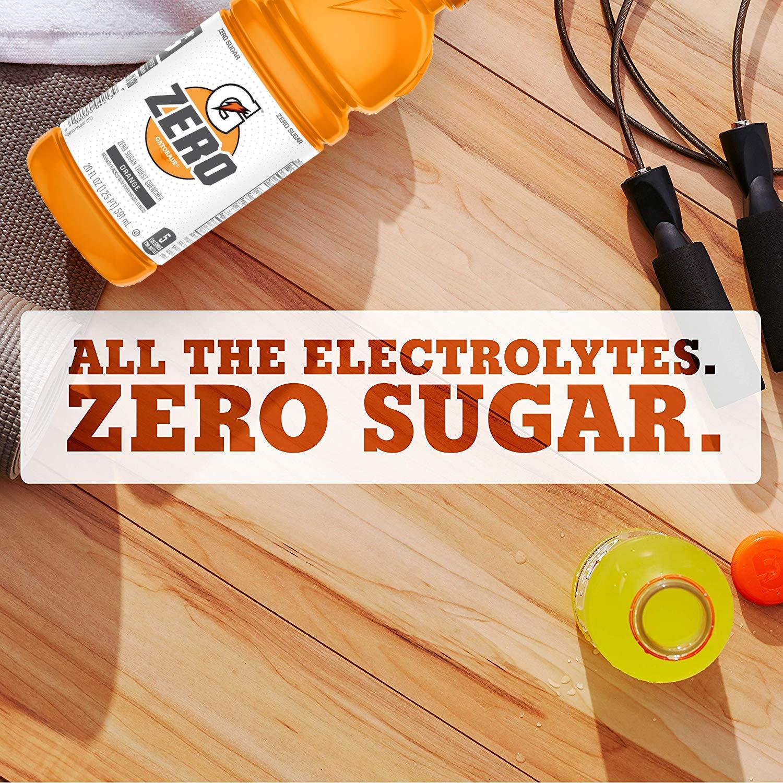 Gatorade Zero Sugar Thirst Quencher, Orange, 20 Fl Oz (Pack of 12) 6.63 AC as Low as $5.51 $6.63