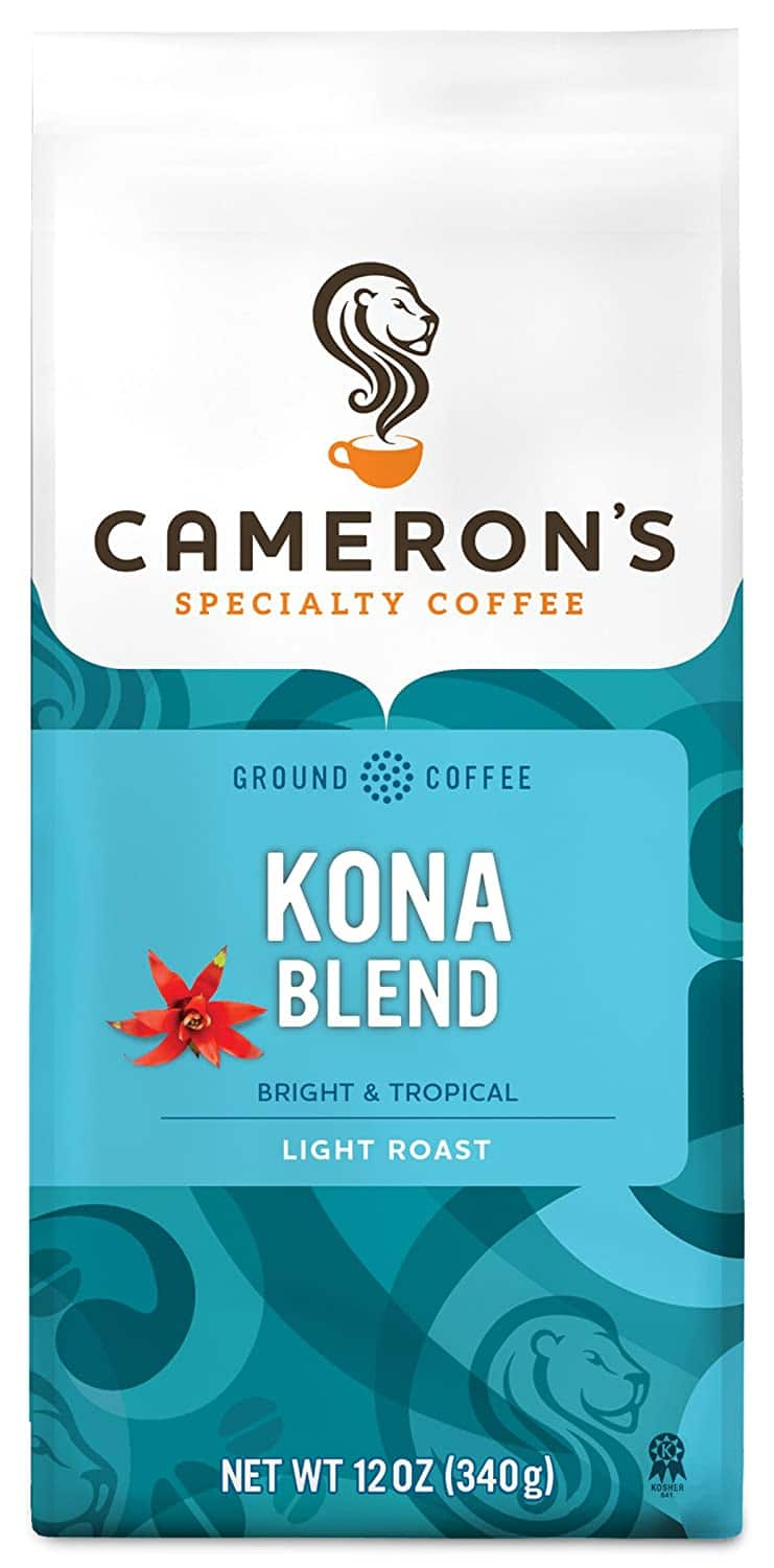 Cameron's Coffee Roasted Ground Coffee Bag, Kona Blend, 12 Ounce as low as $3.73 after AC and with S&S Free Delivery $5.46