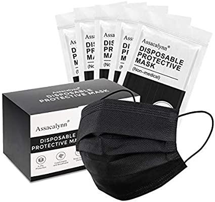 50pcs Boxed Face Mask,Comfortable Disposable Mask $5.99