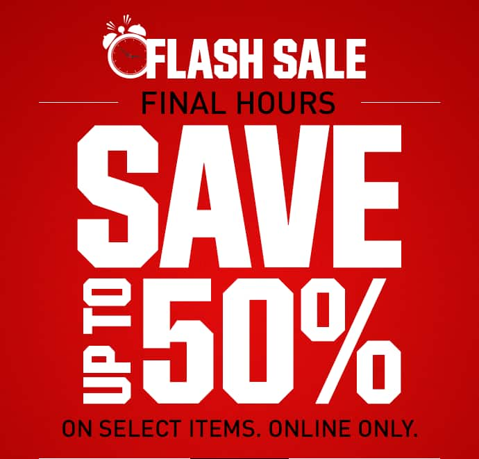 Dicks Flash Sales - until 10pm today