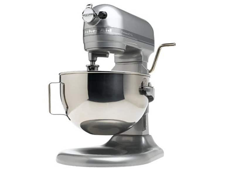 Factory Reconditioned KitchenAid Professional Heavy Duty Series Lift Mixer RKG25H0XMC, 5 Plus Bowl, Metallic Chrome $159.99