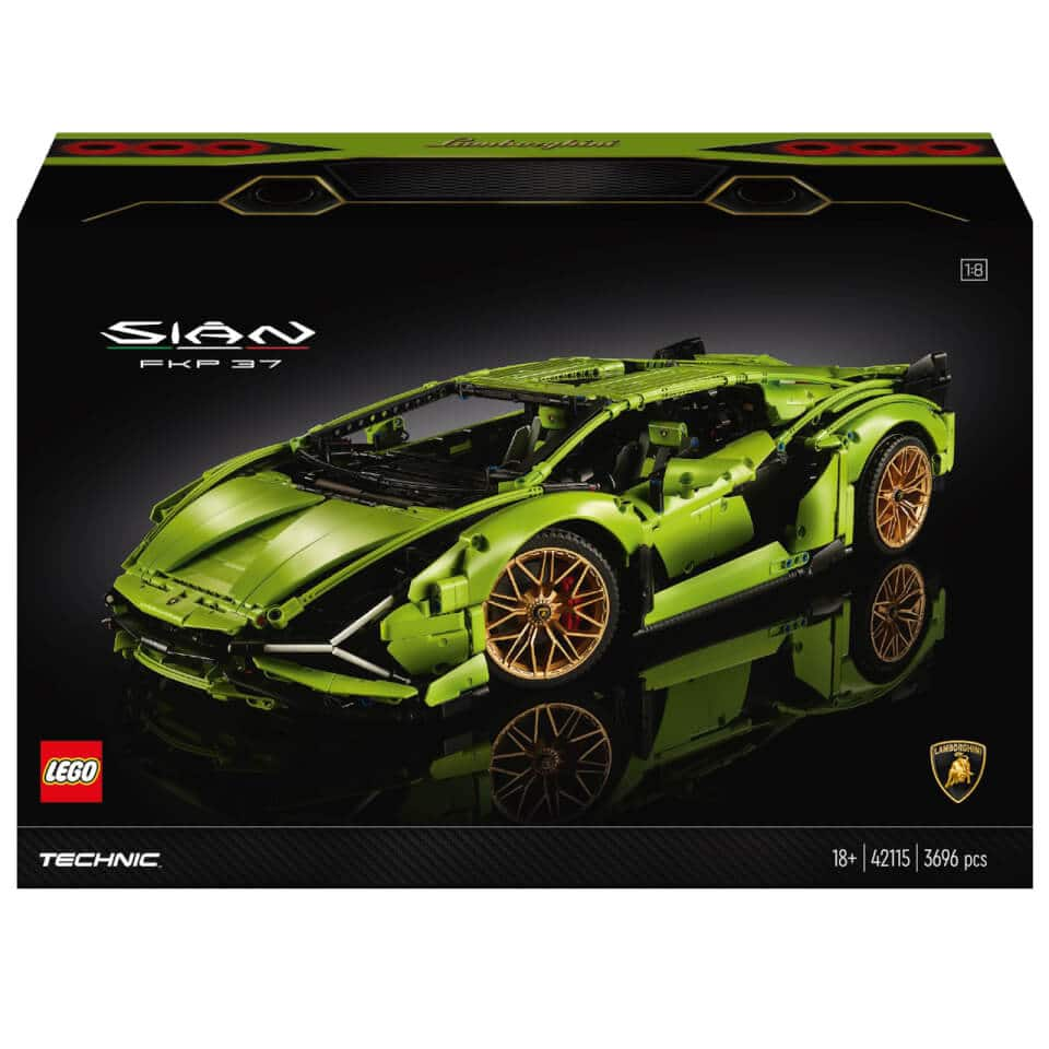 LEGO Technic: Lamborghini Sián FKP 37 Car Model (42115) $329.99 - Zavvi