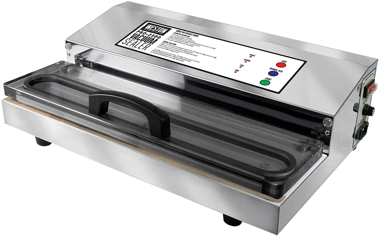 Amazon.com: Weston Pro-2300 Commercial Grade Stainless Steel Vacuum Sealer (65-0201), Kitchen & Dining $299.99