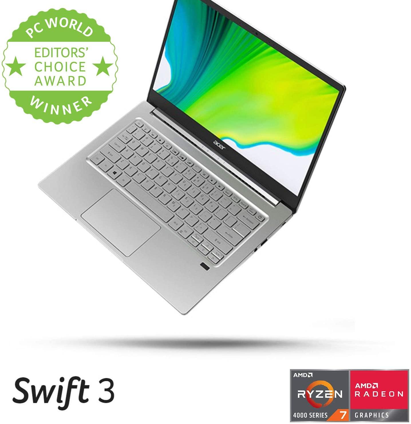 "Acer Swift 3 , 14"" Full HD IPS, AMD Ryzen 7 4700U, 8GB LPDDR4, 512GB NVMe, 2.65lb - $650"