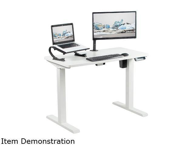 """VIVO White Electric 43"""" x 24"""" Stand Up Desk Workstation $140"""
