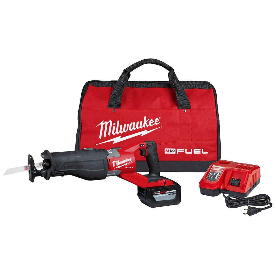 Milwaukee M18 FUEL SUPER SAWZALL w/12.0Ah battery, Rapid Charger, and Bag for $299.00