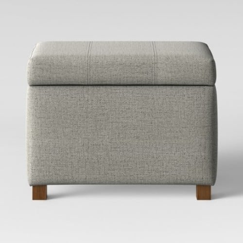 Essex Storage Ottoman Gray - Threshold $33.99 + Free Shipping