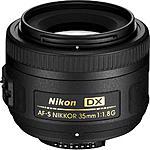Nikon 35mm f/1.8G AF-S DX Nikkor Lens (Refurbished by Nikon) for $164.95 free shipping @ Adorama