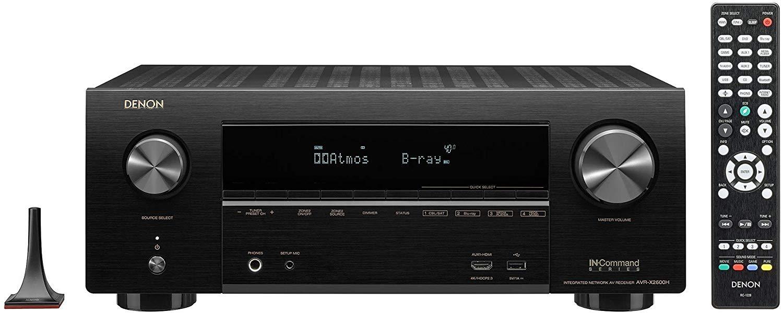 Denon AVR-X2600H 7.2-Ch x 95 Watts A/V Receiver w/HEOS (Renewed) $399.99