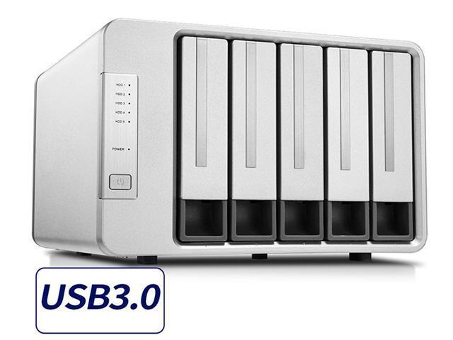 [Newegg Flash] NOONTEC-TerraMaster D5-300 USB3.0 Type C 5-Bay Raid Enclosure USB3.0 (5Gbps) Support RAID 5 Hard Drive RAID Storage (Diskless) $160