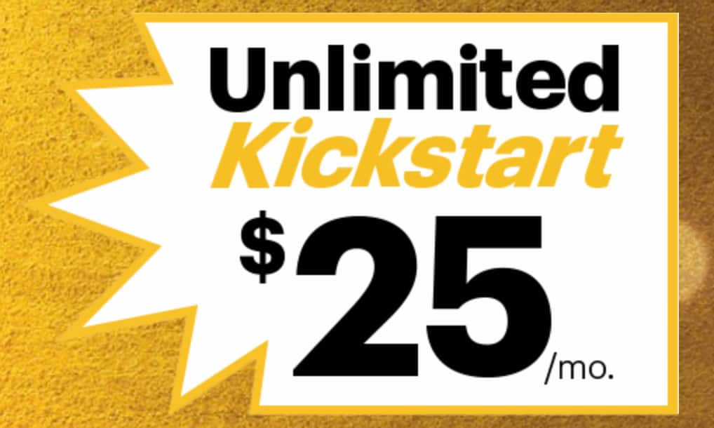 Sprint Kickstart flash sale, unlimited talk text data plan