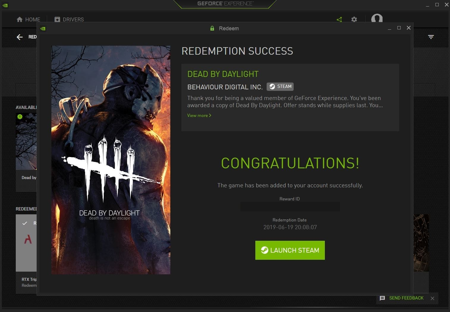 YMMV Nvidia is giving out free copy of Dead by daylight for RTX20xx