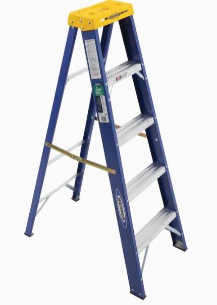 Werner FS200 Series 5-ft Fiberglass Type 2 - 225 lbs. Capacity Step Ladder $23.20 In Store YMMV