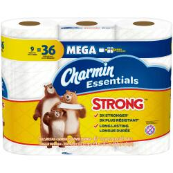 $4.80 9-count Charmin Essentials Mega Rolls Bath Tissue at Office Depot (Strong) - $4.80