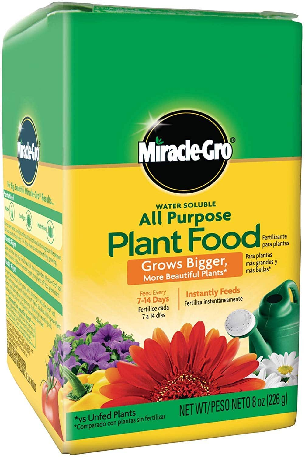 Miracle-Gro 2000992 Water Soluble All Purpose Plant Food, 0.5 LB, Six Pack (Contractor Case) $13.54