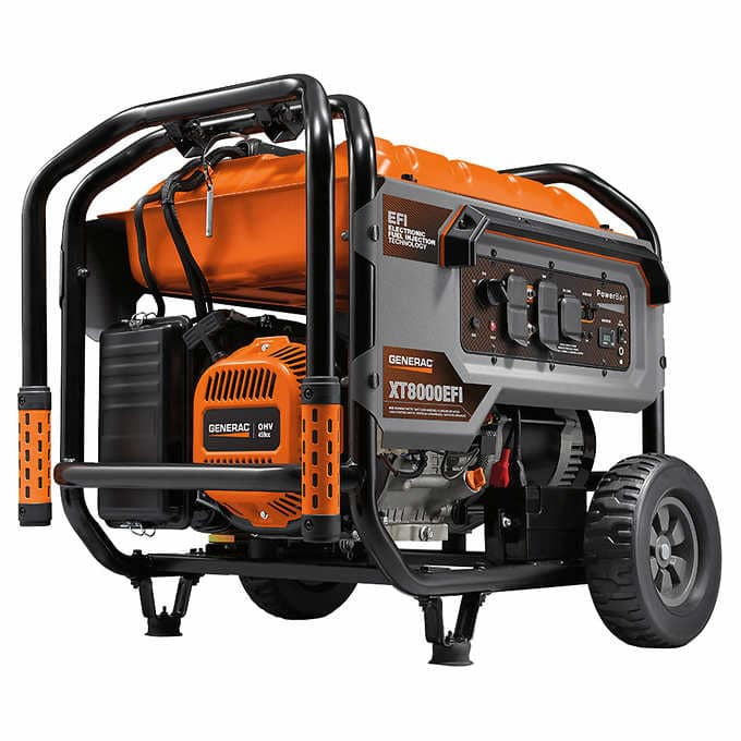 Generac 8000W Running / 10000W Peak Gasoline Powered Generator with Electronic Fuel Injection - Costco - $899