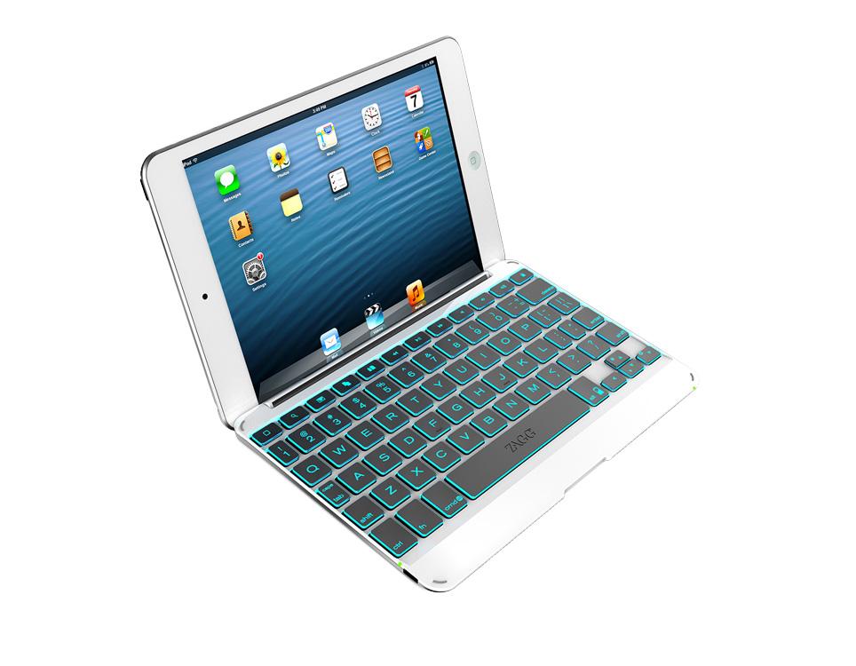 ZAGG Backlit Cover Keyboard iPad Mini - Silver/White  Bluetooth -  ATT Clearance $10  + Free Shipping !