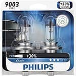 Philips 9003PRB2 Vision Headlight Bulb, (Pack of 2) - $8.32 after coupon