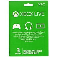 Amazon Deal: Microsoft Xbox Live 3 Month Gold Card - $12.49