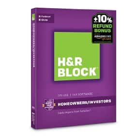 H&R Block Tax Software Deluxe + State 2016 Win + Refund Bonus Offer: $20 [Prime/Alexa not required]